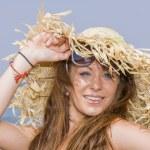 Woman on the beach — Stock Photo #70878469