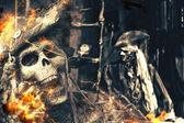 Skeleton Pirates Portrait — Stock Photo