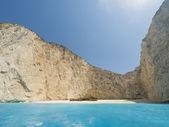 The famous Navagio Shipwreck beach in Zakynthos island  — Stock Photo