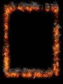 Burning fire frame — Stock Photo
