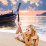 Woman on the beach — Stock Photo #76067537