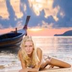 Woman on the beach — Stock Photo #76067629