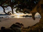 Vacker soluppgång i rawai phuket — Stockfoto