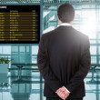 Business man at the airport — Stock Photo #78021152