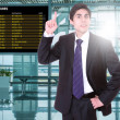 Business man at the airport — Stock Photo #78021318
