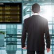 Business man at the airport — Stock Photo #78021334