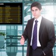 Business man at the airport — Stock Photo #78021464