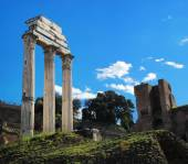 Roman column in area of Forum Romanum — Photo