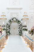 Wedding ceremony hall — Stock Photo