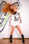酷嘻哈舞者 — 图库照片