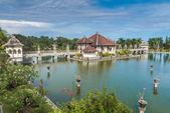 Карангасем водного дворца храм на Бали — Стоковое фото