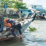 Mekong floating market — Stock Photo #66090655