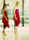 Dance class for women blur background — Stock Photo