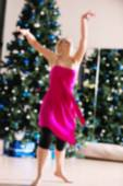 Dance class for women blur background — Stock Photo