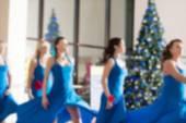 Dance class for women blur background — Stock fotografie