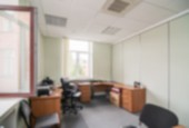 Common office building interior blur background — Stock fotografie