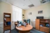 Общий интерьер здания офиса размытие фона — Стоковое фото