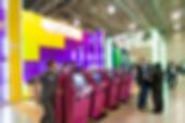 Generic trade show blur background — Stock Photo