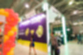 Generic trade show blur background — Foto de Stock