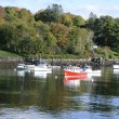 Boats in the Rockport Marine Harbor in Maine — Stock Photo #55020015