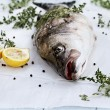 Striped Bass and Ingredients — Stock Photo #52467143