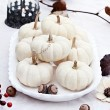 White Autumn Table Setting — Stock Photo #53866913