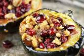 Stuffed Acorn Squash — Stockfoto