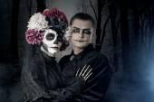 Casal de halloween — Foto Stock