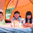 The children in the tent — Stock Photo #57798113