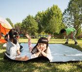 Resting children — Stock Photo