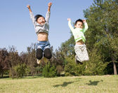 Happy boys and girls — Stock Photo