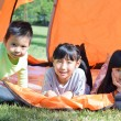 The children in the tent — Stock Photo #57803647