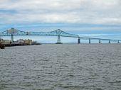 Astoria Bridge viewed from Astoria, Oregon USA — Stock Photo