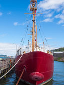 Columbia Lightship with Nautical Flags Hanging — Foto Stock