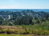 A View of the Astoria Oregon Area from the Astoria Column — Stock Photo