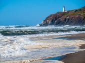 North Head Lighthouse on the Washington Coast USA — Stock Photo