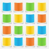 Blank Sticker Web Buttons — Stock Vector