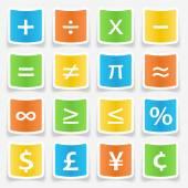 Math Symbol Stickers — Vecteur