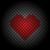 Heart Tile Background — Stock Vector
