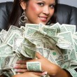 Woman Holding Money — Stock Photo #79521302