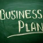 Business Plan title written with chalk on blackboard — Stock Photo #58129053