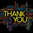 Thank You Word Cloud vector background, all languages — Stock Vector #65603299