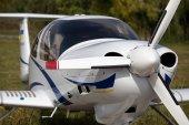 Small civil plane — Stock Photo