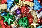 Pila de adornos de navidad — Foto de Stock