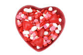 Assorted bowl valentines candy — Stock Photo