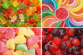 Assorted chewy candy — Stock Photo