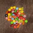Top view assorted colorful candies — Stock Photo #73501195