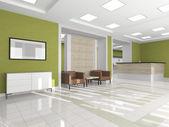 Interior corridor with an armchair — Stock Photo