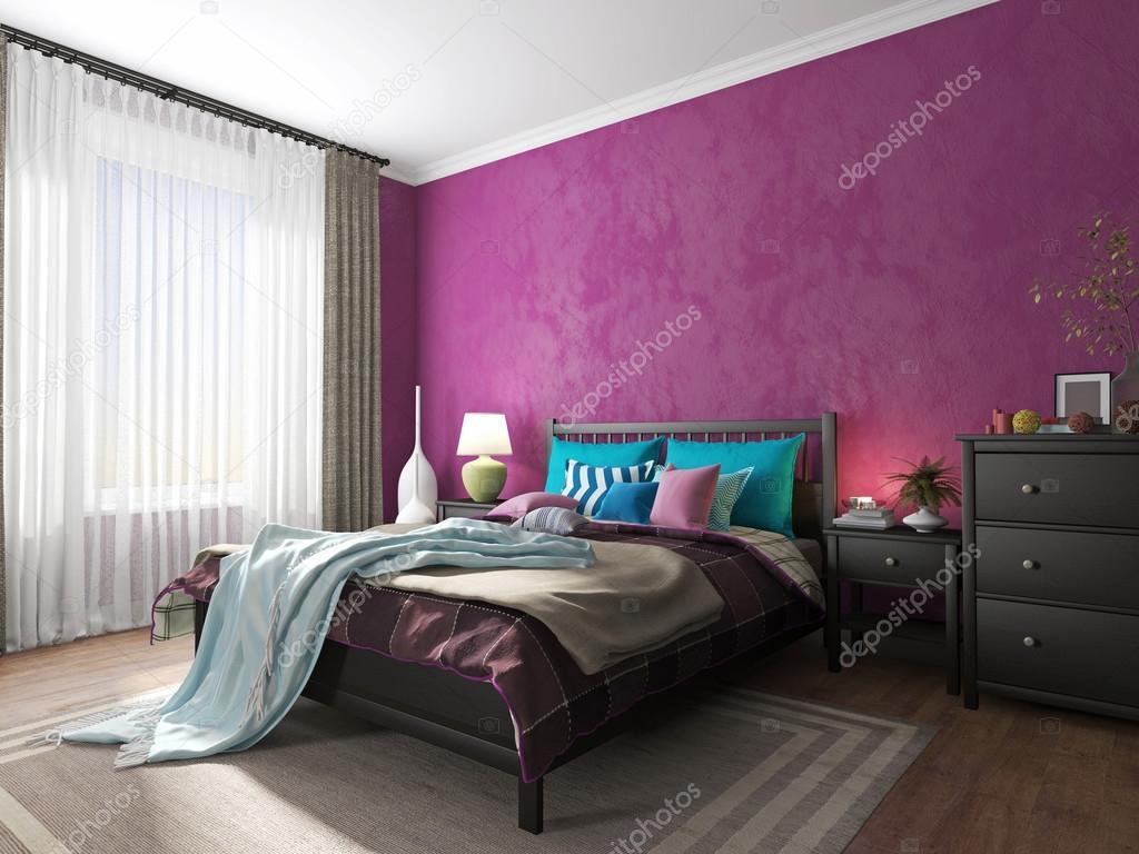 Sovrum inredning i en hotel säng — stockfotografi © sanya253 #74612553