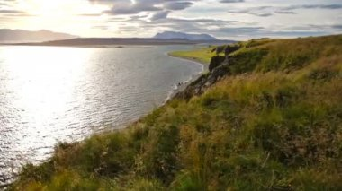 Coastline of Vatnsnes peninsula — Wideo stockowe
